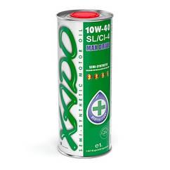 XADO Atomic Oil 10W-40 SL/CI-4. Всесезонное полусинтетическое масло. Бензиновые/дизельные двигатели. 1л