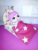 Кровать и постель для Лол. Мебель для кукольного домика.