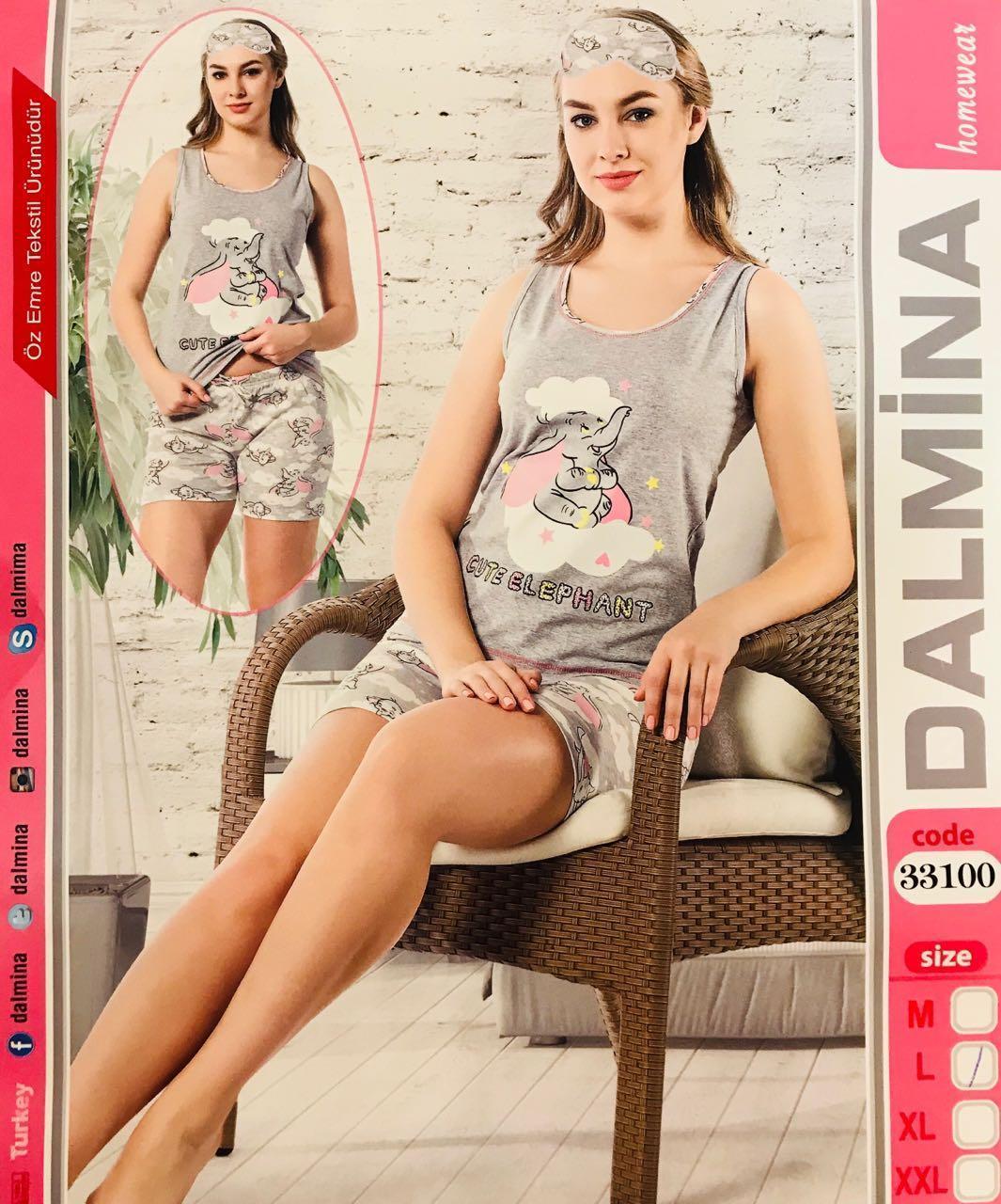Женская пижама хлопок DALMINA Турция размер XL(50) 33100