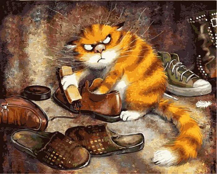 Картина по номерам Недовольный кот 40 х 50 см (VP877)