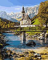 Картина по номерам Альпийская часовня 40 х 50 см (VP911)
