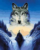 Картина по номерам Лунный волк 40 х 50 см (VP929)