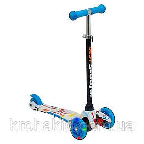Самокат Best Scooter  1291  Mini  Графический рисунок (Голубой), фото 2