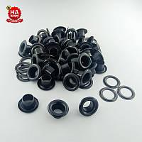 Блочки для верхней одежды 6мм (№4), Черный, Турция (100шт)