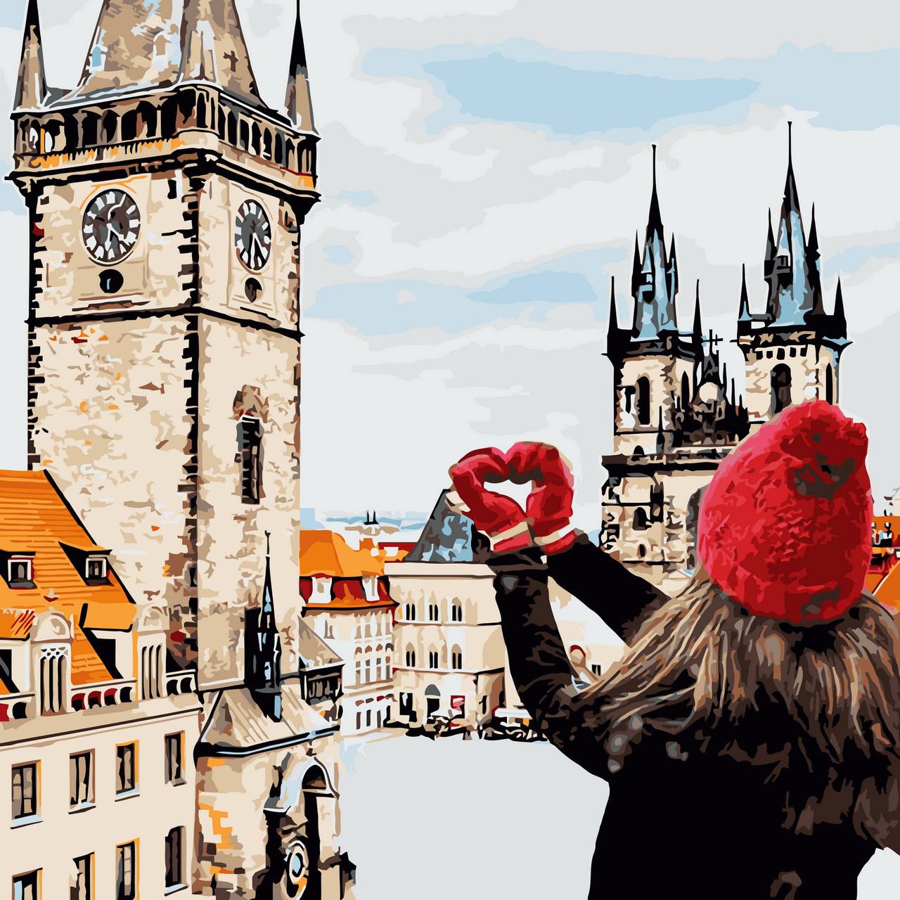 Картина по номерам Из Праги с любовью 40 х 40 см (KHO3523)