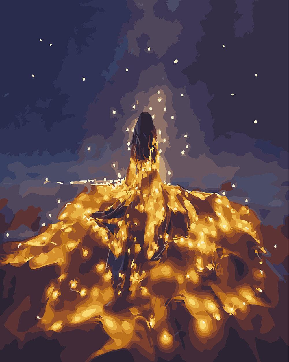 Картина по номерам Принцесса светлячков 40 х 50 см (BK-GX24880)