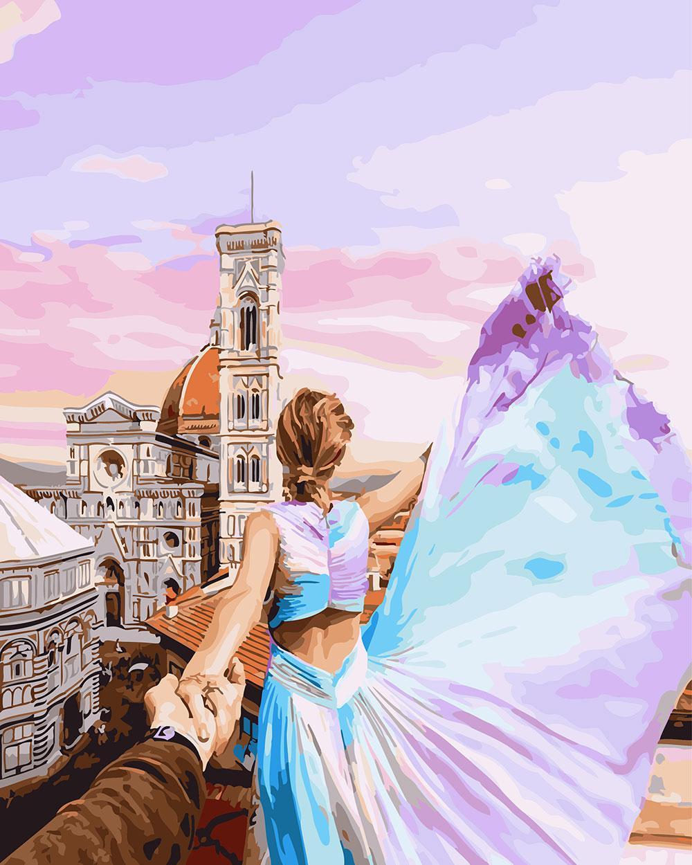 Картина по номерам Следуй за мной Флоренция 40 х 50 см (BK-GX24881)
