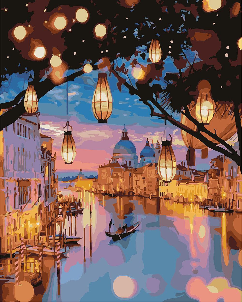 Картина по номерам Магия ночной Венеции 40 х 50 см (BK-GX24915)