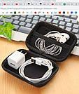 Маленькая сумка органайзер для проводов кабелей зарядного косметики (коралловый цвет), фото 5
