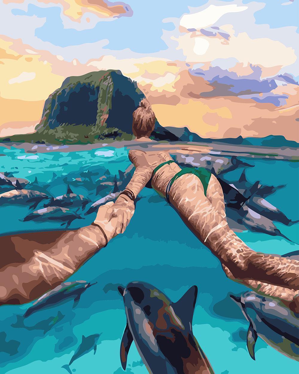 Картина по номерам Следуй за мной Остров Маврикий 40 х 50 см (BRM24878)