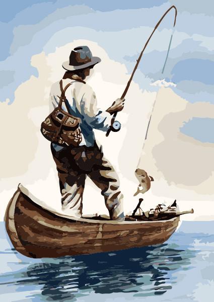 Картина по номерам Утренняя рыбалка 40 х 50 см (KHO2240)