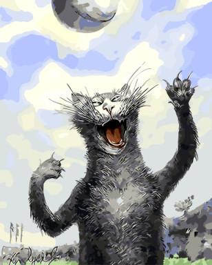 Картина по номерам Кошачьи игры 40 х 50 см (BRM8769)