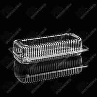 Пластиковая упаковка для суши и роллов УК-49Р, PET, прозора, 750 мл, 800 шт/уп