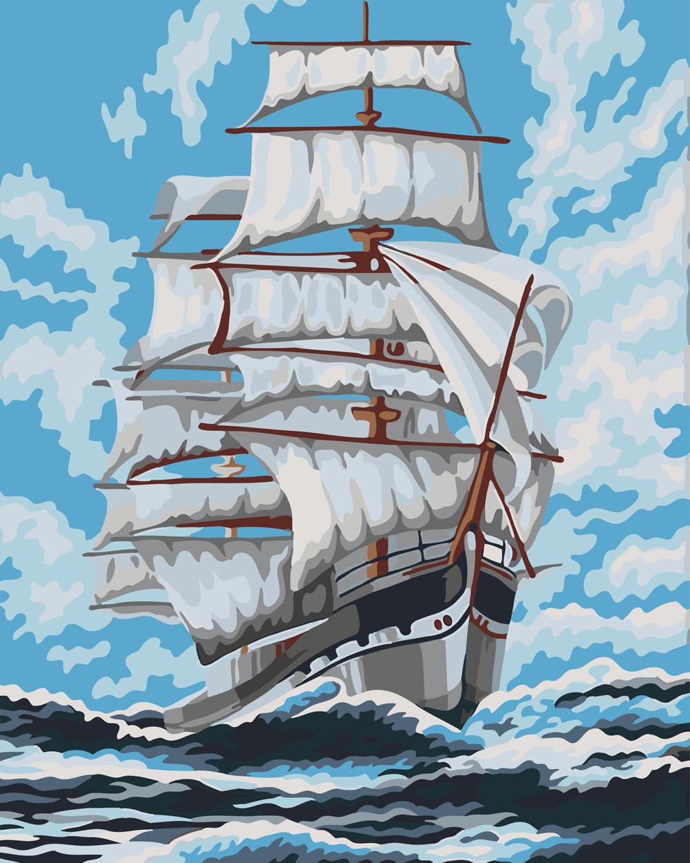 Картина по номерам Попутный ветер 40 х 50 см (BK-GX22308)