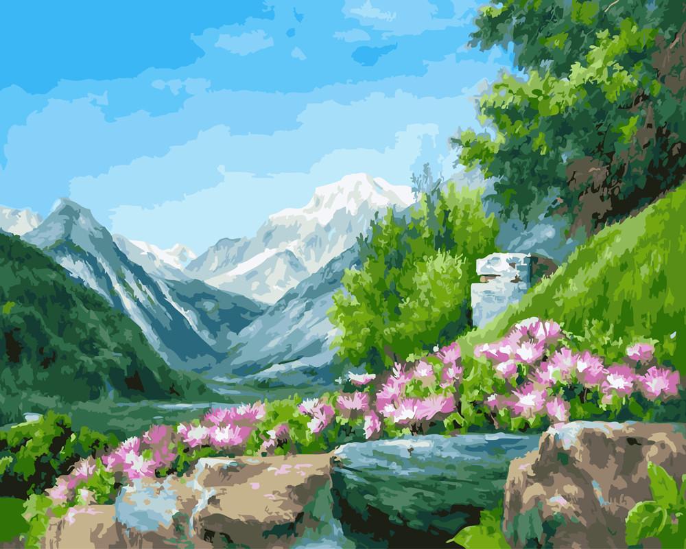 Картина за номерами Гірські квіти 40 х 50 см (BK-GX23569)