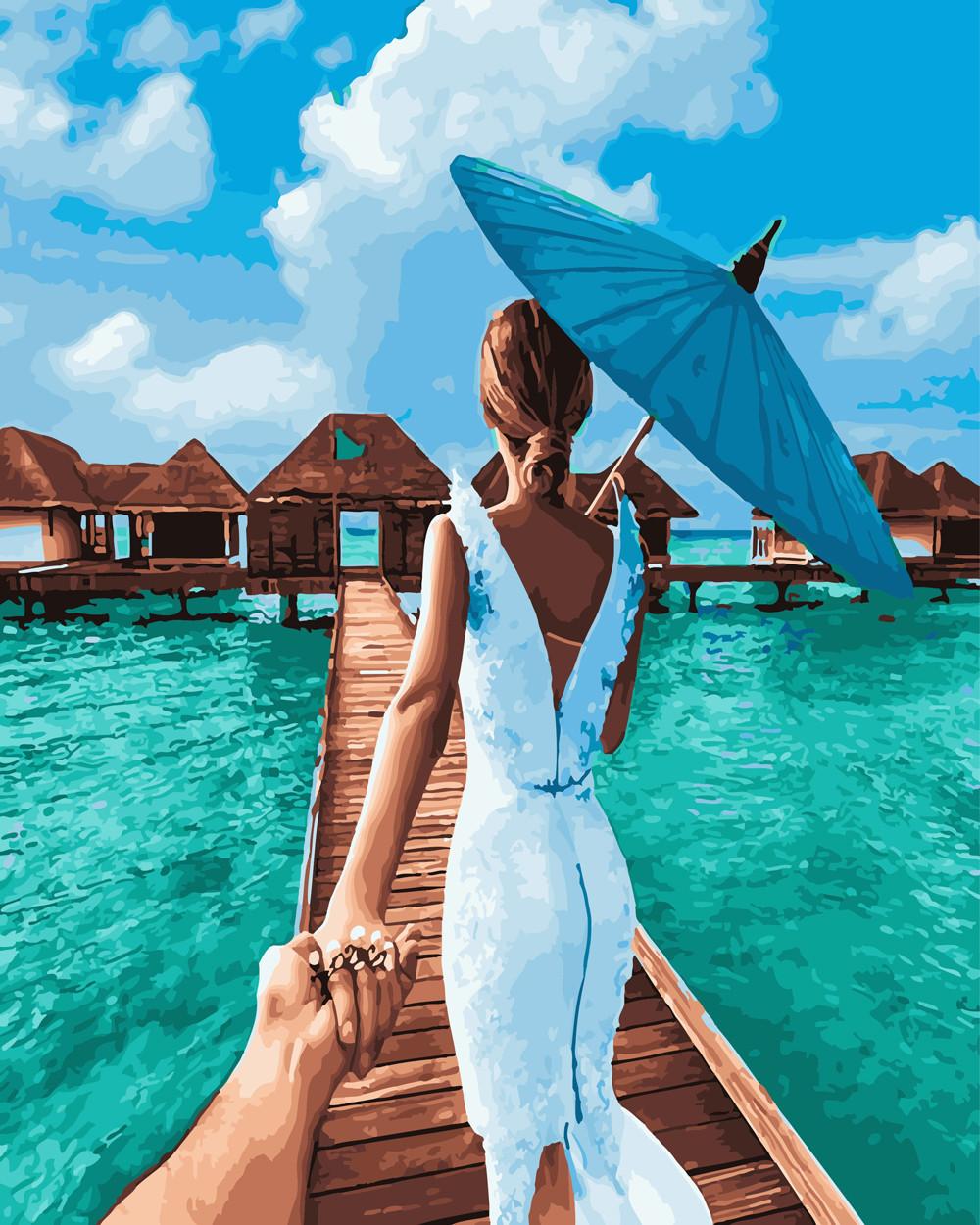 Картина за номерами Слідуй за мною Мальдіви 40 х 50 см (BK-GX24483)