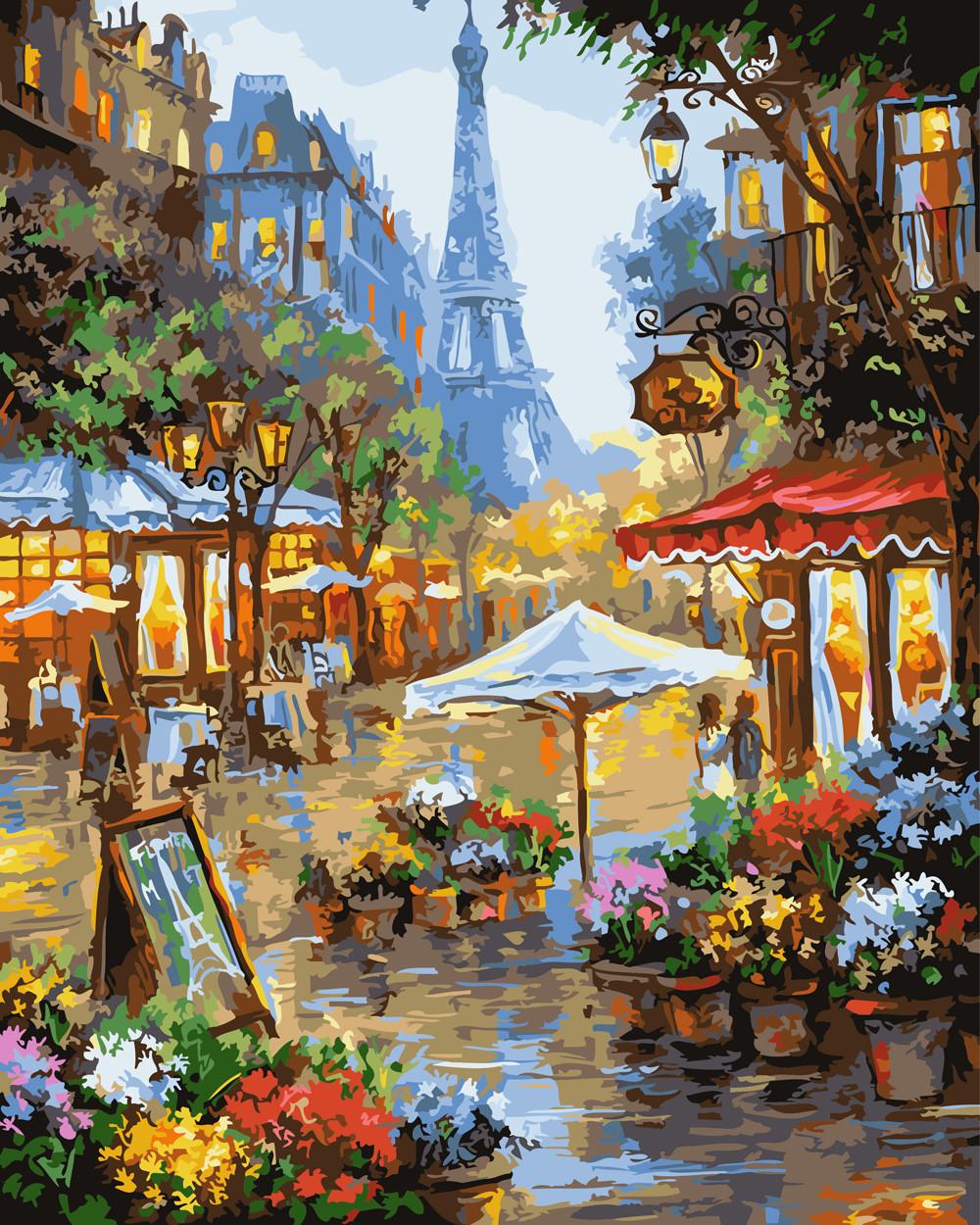 Картина по номерам Цветочный рынок в Париже 40 х 50 см (BK-GX25578)