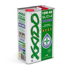 XADO Atomic Oil 10W-40 SL/CI-4. Всесезонное полусинтетическое масло. Бензиновые/дизельные двигатели. 4л