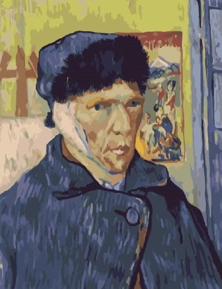 Картина по номерам Ван Гог Автопортрет с перевязанным ухом 40 х 50 см (BK-GX7951)