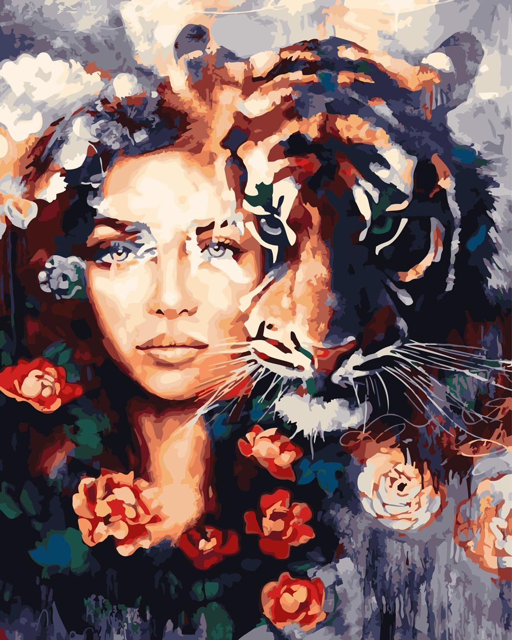 Картина по номерам Глаза тигра 40 х 50 см (BRM23607)