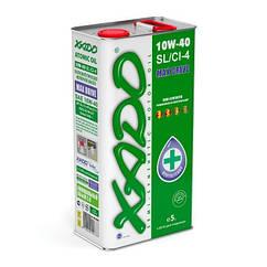 XADO Atomic Oil 10W-40 SL/CI-4. Всесезонное полусинтетическое масло. Бензиновые/дизельные двигатели. 5л