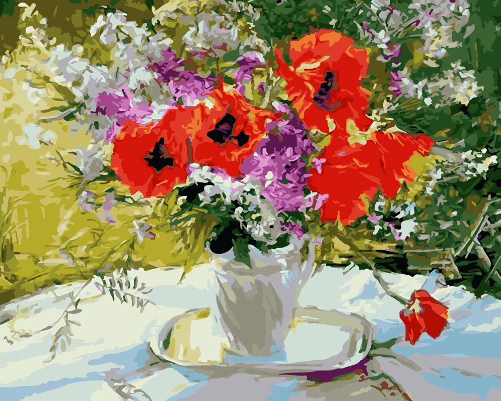 Картина по номерам Цветочное великолепие 40 х 50 см (BRM4417)