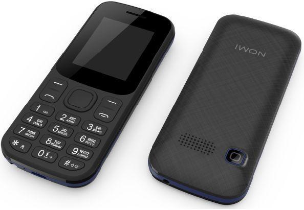Простой кнопочный телефон на 2 сим карты с быстрым набором и фонариком Nomi i185 черно-синий
