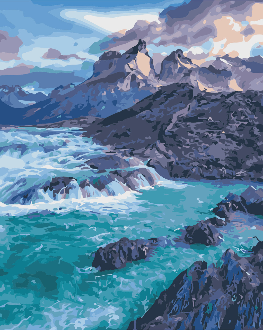 Картина по номерам Прибрежные скалы 40 х 50 см (AS0375)
