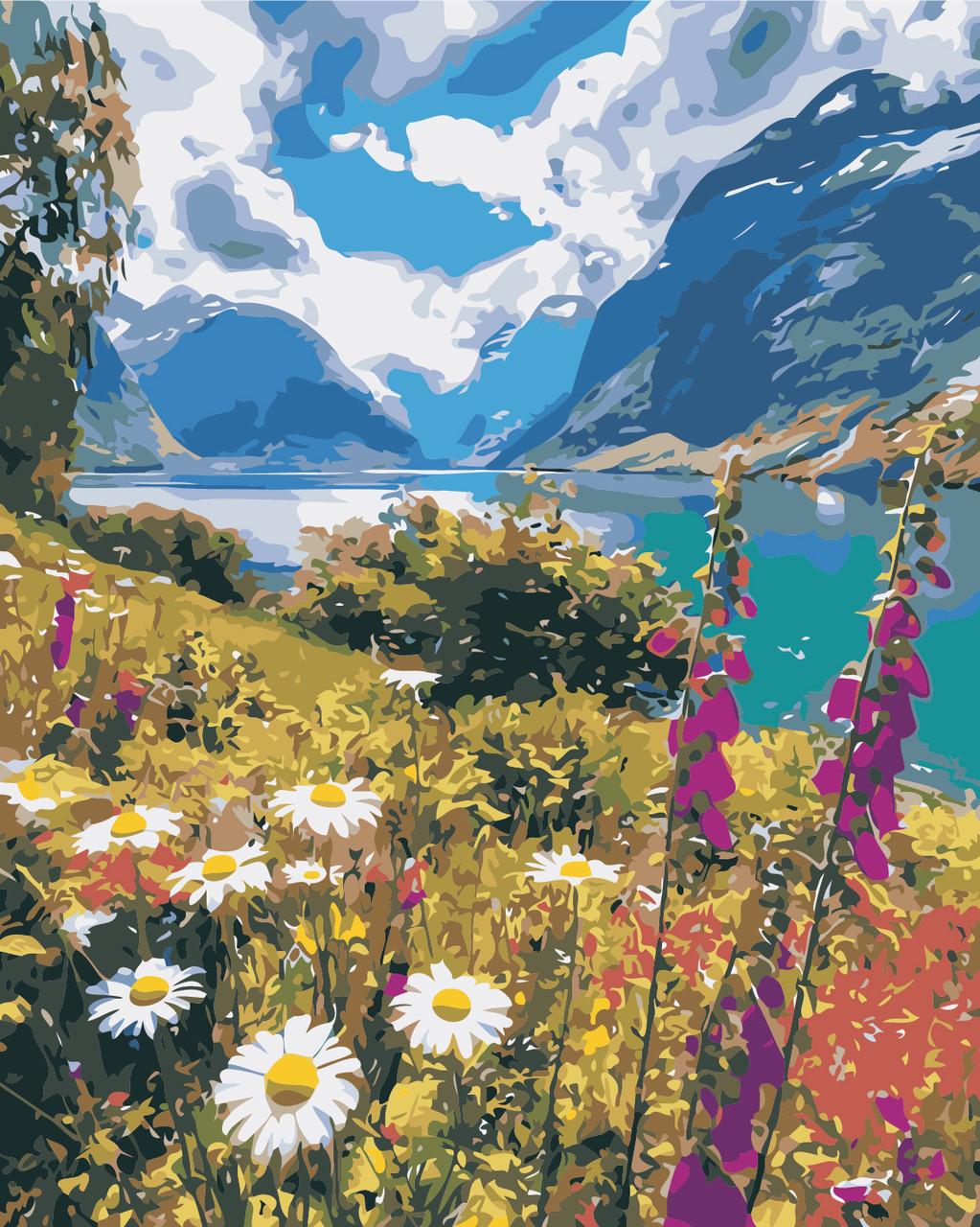 Картина по номерам Лето в горах 40 х 50 см (AS0386)
