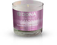 Массажная свеча DONA Scented Massage Candle Tropical Tease SASSY (135 гр). Массажные масла и кремы