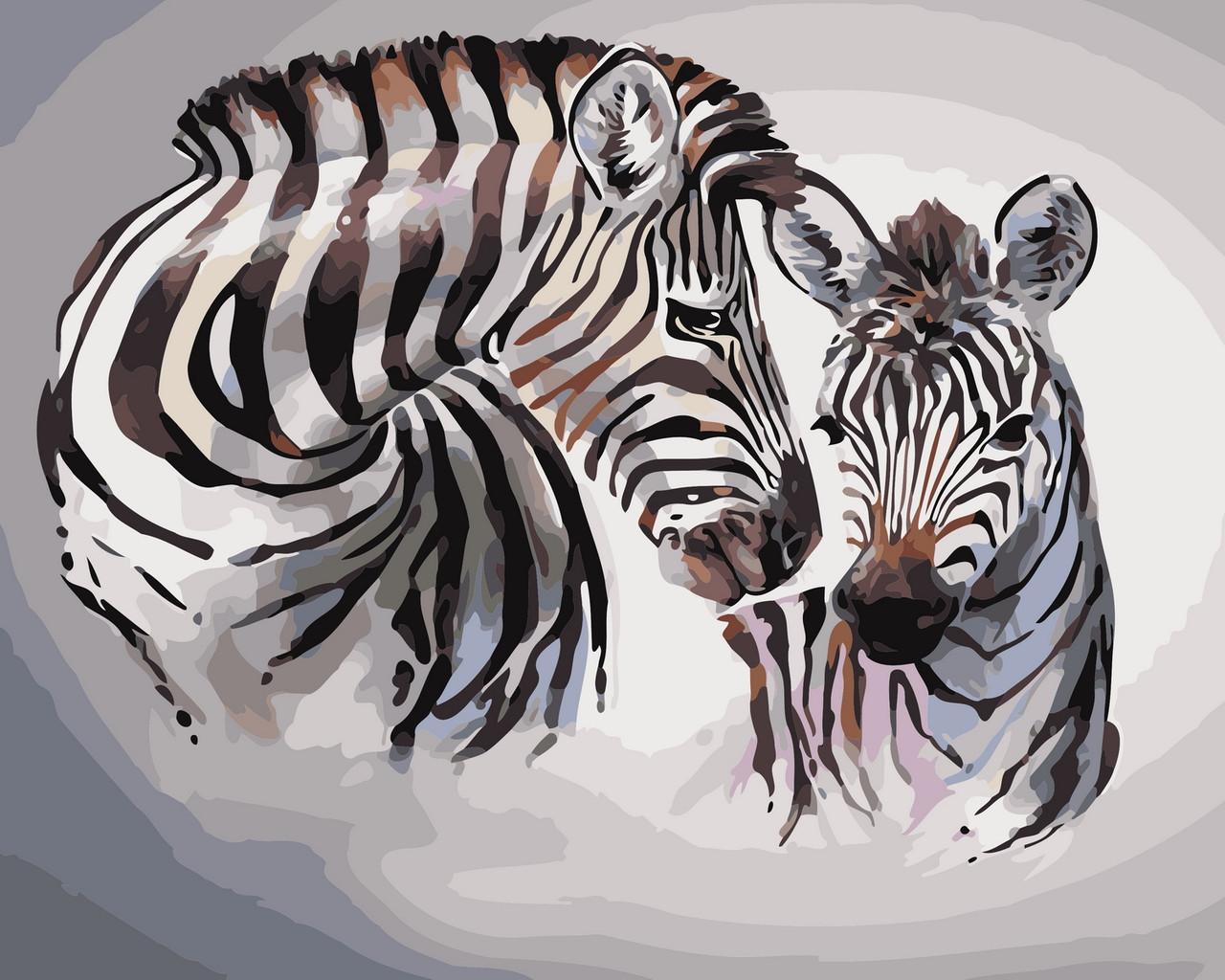 Картина по номерам Зебры 40 х 50 см (AS0432)