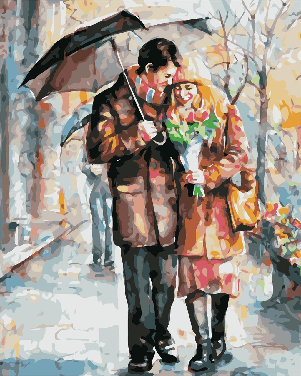 Картина по номерам Осеннее свидание 40 х 50 см (AS0437)