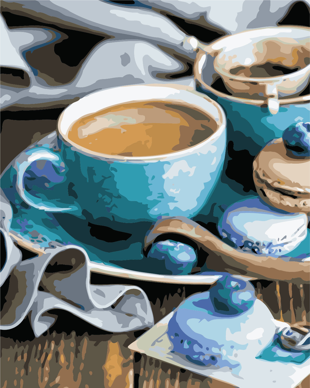 Картина по номерам За чашечкой кофе 40 х 50 см (AS0459)