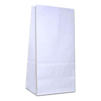 Бумажный пакет на вынос 150х90х360 Белый