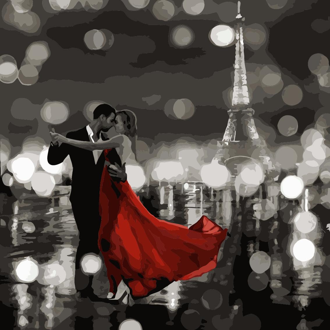 Картина по номерам Ночное танго 40 х 40 см (AS0491)