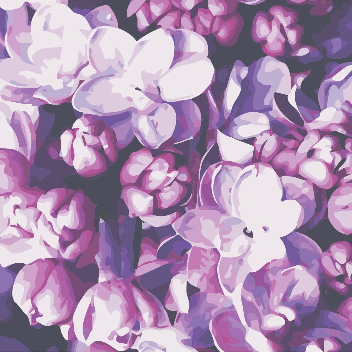 Картина по номерам Цветы сирени 40 х 40 см (AS0512)