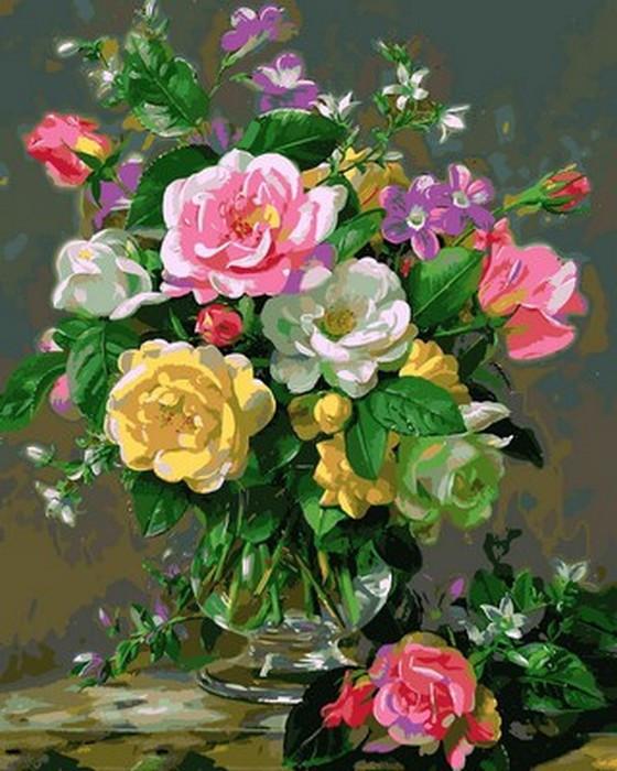Картина по номерам Три оттенка роз 40 х 50 см (MR-Q2167)