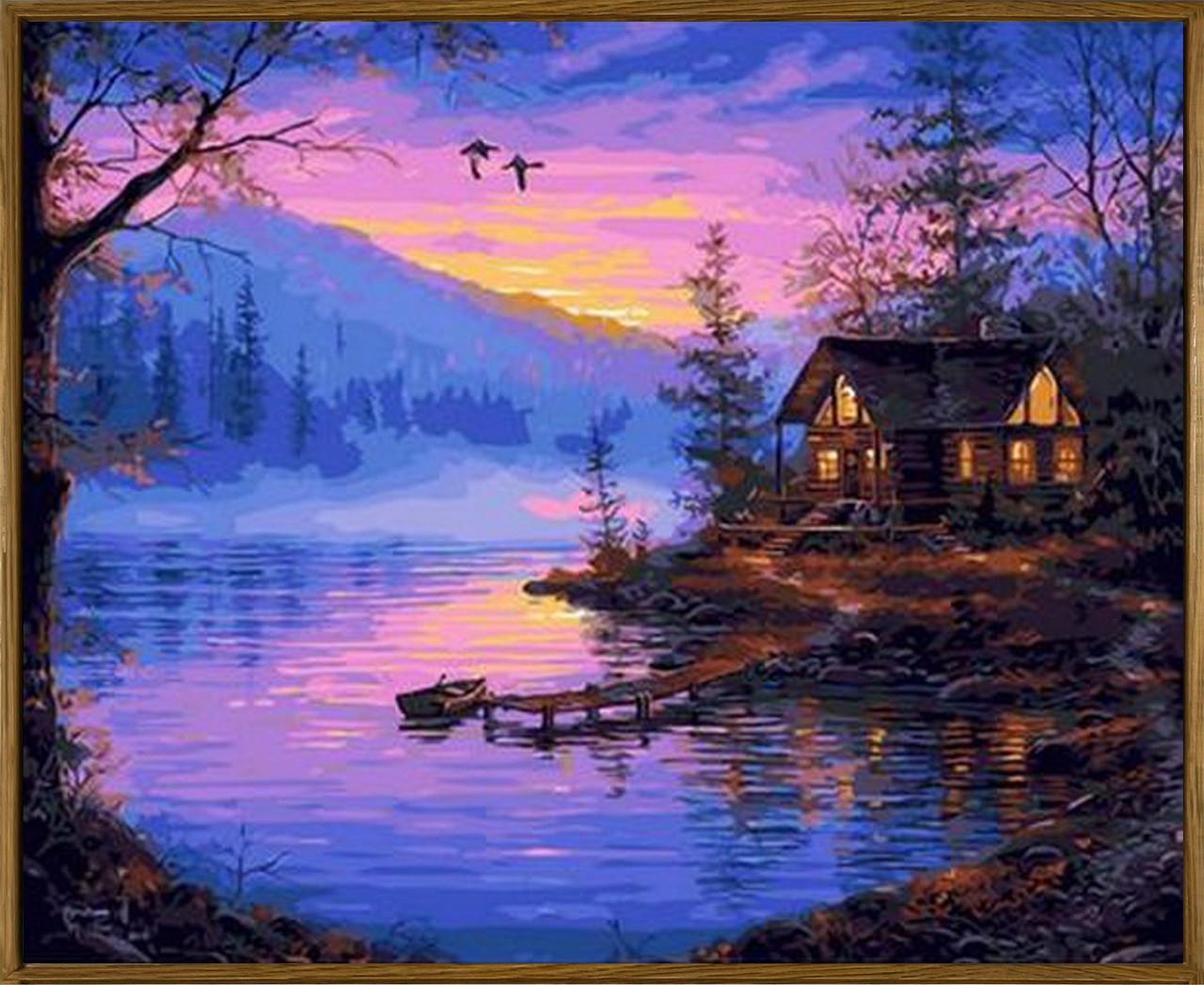 Картина по номерам Тихая заводь (в раме) 40 х 50 см (NB1391R)