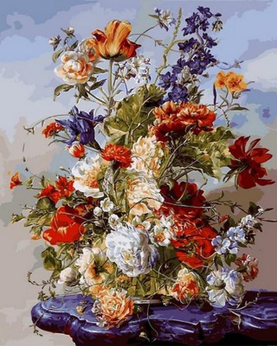Картина по номерам Букет на пурпурном столике 40 х 50 см (VP1040)
