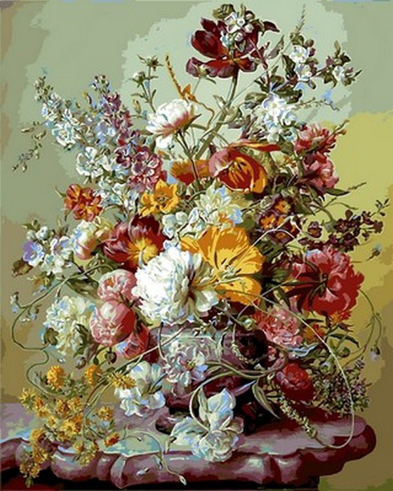 Картина по номерам Тюльпаны и розовые пионы 40 х 50 см (VP1043)