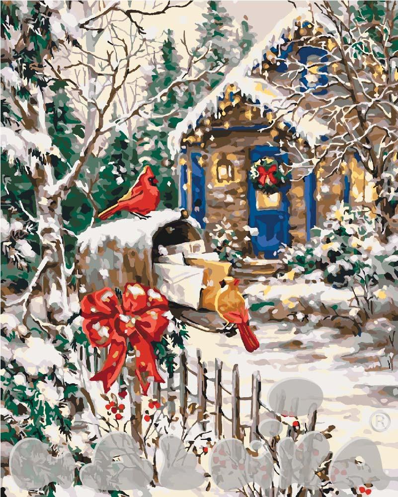 Картина по номерам Зимняя сказка 40 х 50 см (KHO2251)