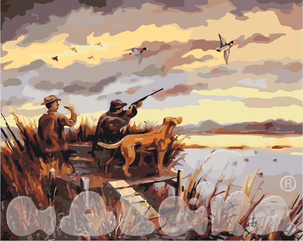 Картина по номерам Охота на уток 40 х 50 см (KHO2252)