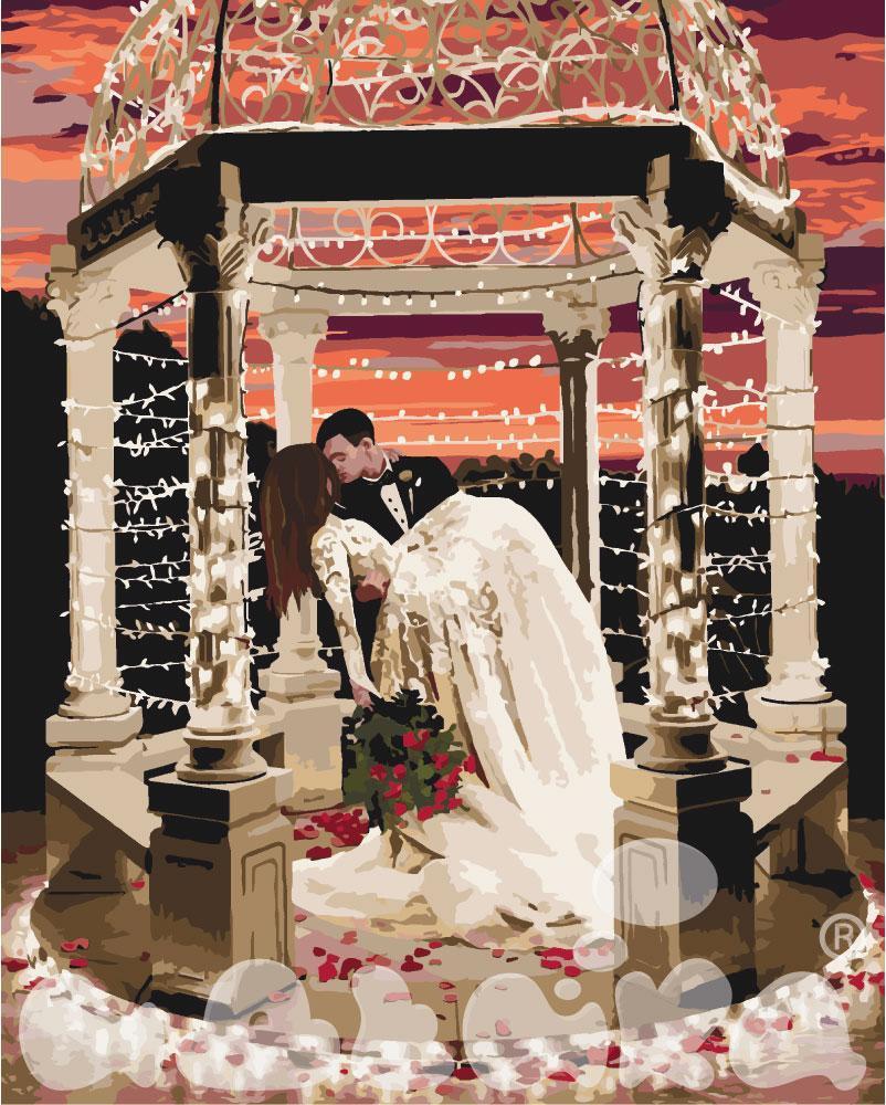 Картина по номерам В плену любви 40 х 50 см (KHO4532)