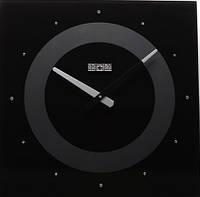 Оригинальные настенные часы 40х40 см SPG LUX с камнями черные [Стекло, Открытые]