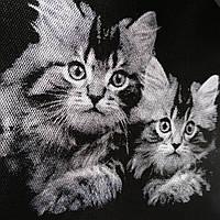 Эко сумка  хозяйственные коты(спанбонд)