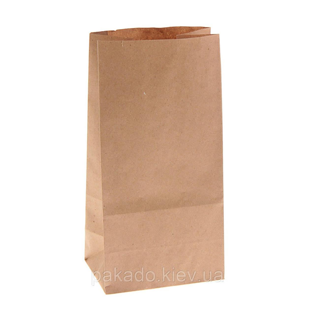 Бумажный пакет на вынос 90х60х200 Бурый