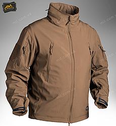Демисезонная тактическая куртка Helikon-Tex® GUNFIGHTER Windblocker® Soft Shell (коричневая)