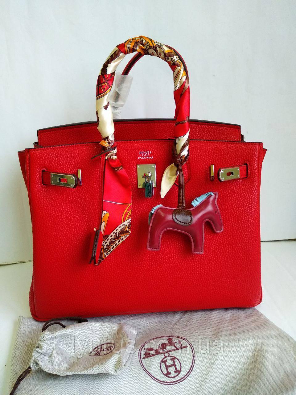 55284223a422 Женская сумка в стиле Hermes Birkin Red 35см: продажа, цена в ...