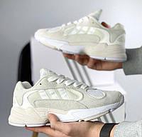 Adidas Yung 1 Total Cream White | кроссовки мужские и женские; белые