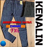 f6223e201e1 Джеггинсы женские демисезон синие мега-батал KENALIN лосины-джинсы с  карманами 7XL ЛЖД-